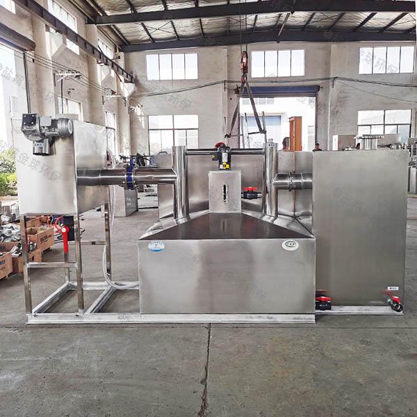 单位食堂地上式中小型成品不锈钢隔油池设计要求