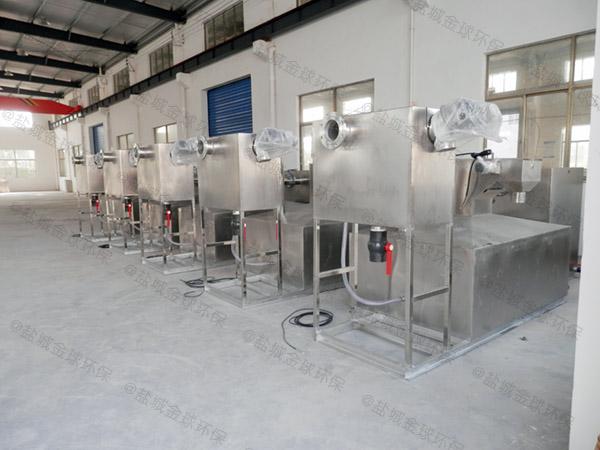 餐饮类大型室外无动力除油污水处理设备内部结构图