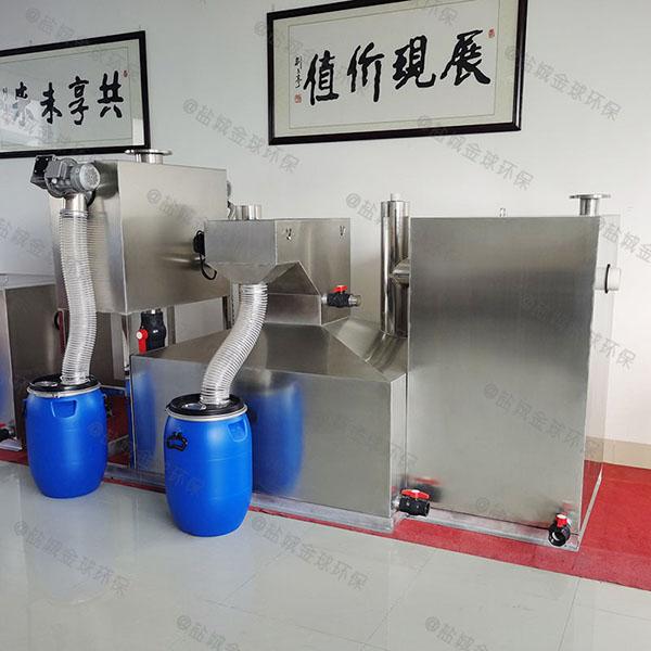 餐饮专用中小型地面智能油水分离过滤机造价