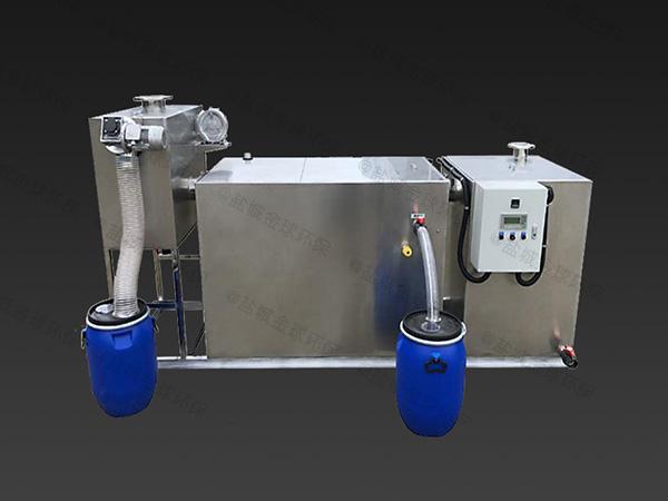 餐饮室外简单隔油净化设备制作方法