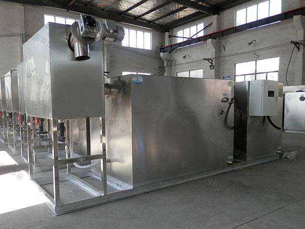 厨房用地下式全自动智能型隔油污水提升一体化设备工艺流程