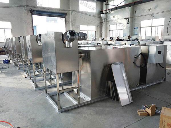 餐厨垃圾地上式大自动刮油一体化隔油器处理量