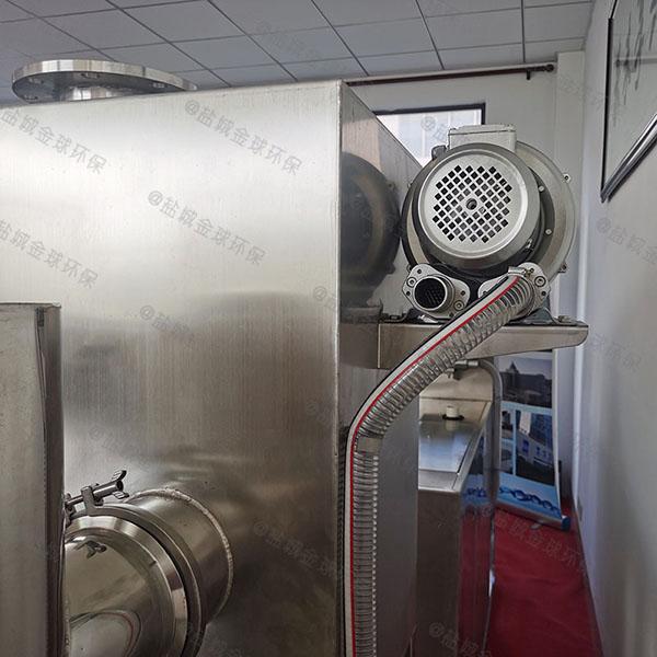 厨下型地上式自动提升油水分离器隔渣池如何