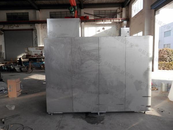 厨房用大型地面自动除渣除渣隔油器安装图