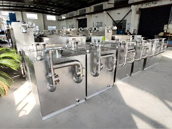 餐饮商户中小型地面机械不锈钢油水分离机安装位置
