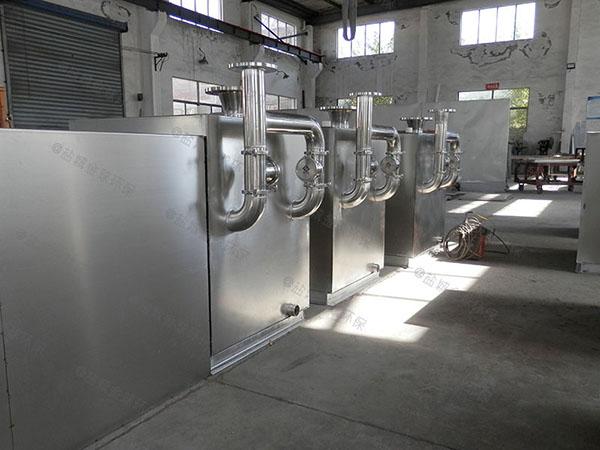 餐饮专用中小型埋地式自动排水隔油器提升设备施工工艺