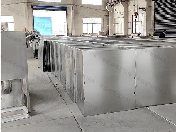火锅大型室内自动除渣三格式隔油池是成套的还是拼装的