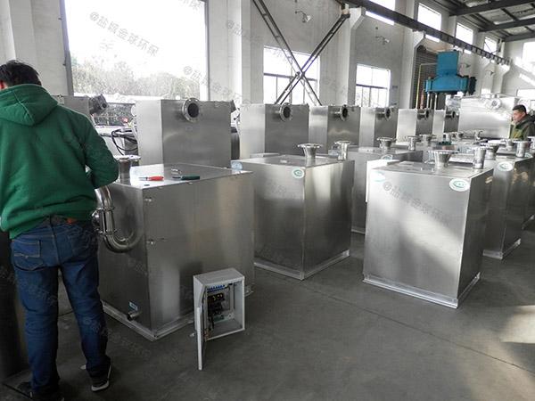 餐厨地面式分体式油水分离过滤设备的去除效率