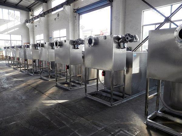 餐厅厨房大型埋地机械隔油净化设备的去除效率