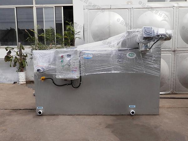 餐饮专用室外中小型自动刮油三格式隔油池行业