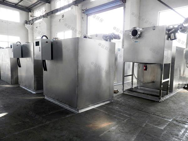 后厨大型室外全自动智能型油水渣三相分离机改造