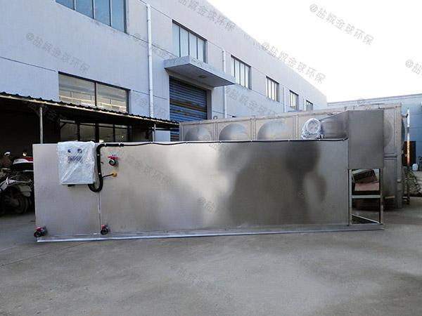 饭馆户外大型自动排水一体化隔油池处理设备原理图