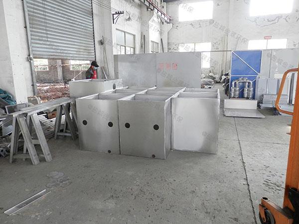 工地地面智能化油水分离隔油器安装效果图
