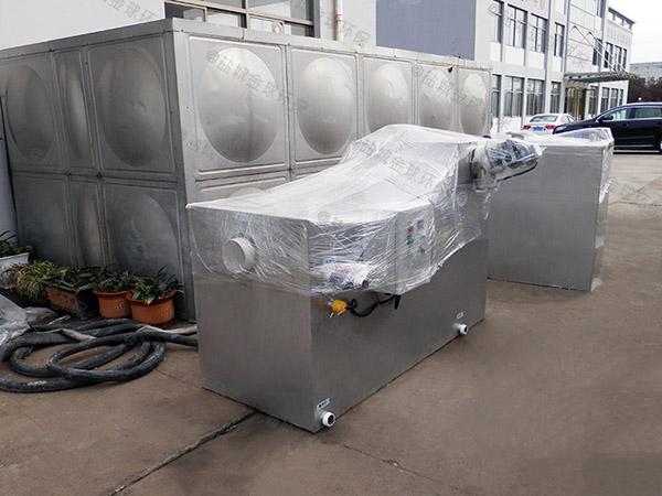 餐饮业大室外无动力一体化油脂分离设备的组成