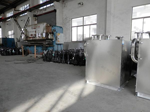 工厂食堂中小型地上移动一体式隔油池做法
