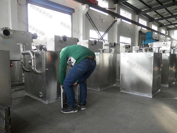 食堂用中小型地埋式自动除渣隔油强排一体化设备的原理图解