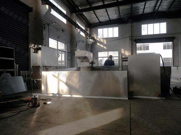 工地食堂地面自动隔油过滤器怎么装