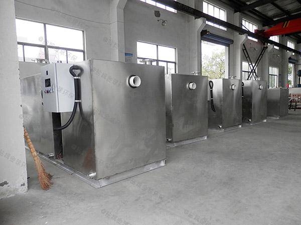 餐饮业地下式多功能污水提升及隔油设备制作方法