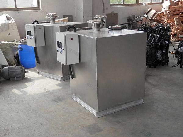 餐饮商户地下多功能一体隔油提升设备制作