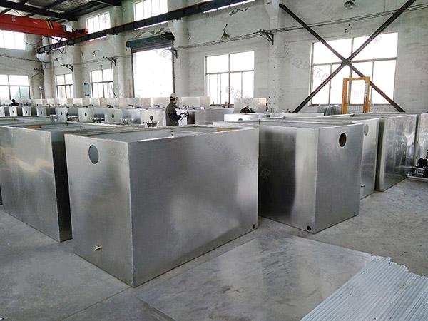餐用埋地式简单一体化隔油处理设备正确安装