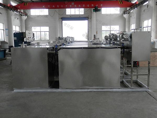 餐饮业地下室机械一体化隔油处理设备样品