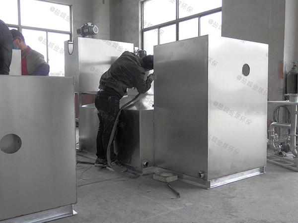 餐饮行业埋地多功能一体化隔油强排设备制作