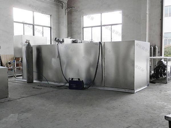 餐饮类埋地式机械斜流式隔油池使用