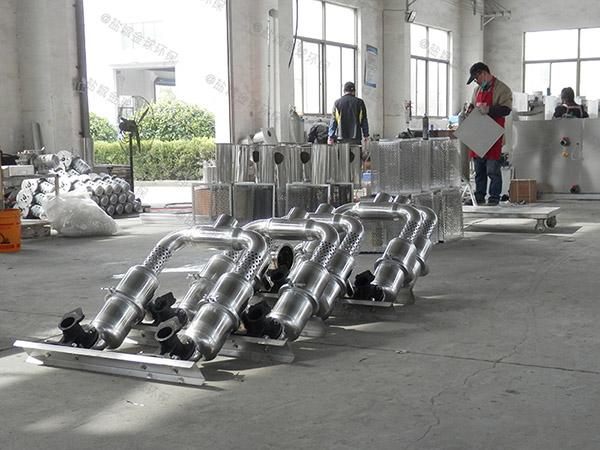 餐饮行业埋地式机械一体化隔油池设备用法