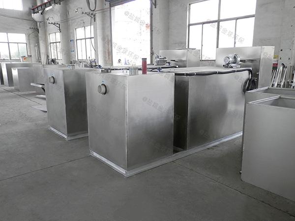 餐饮环保室外全自动智能型一体化隔油处理设备型号选择