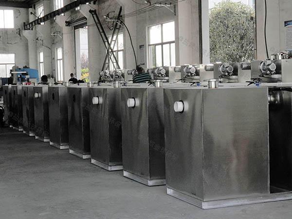 餐饮环保室外全自动智能型一体化隔油池处理设备选用表