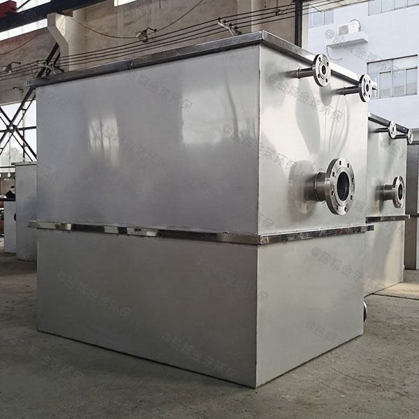 餐饮环保埋地移动一体化隔油污水提升设备有效容积