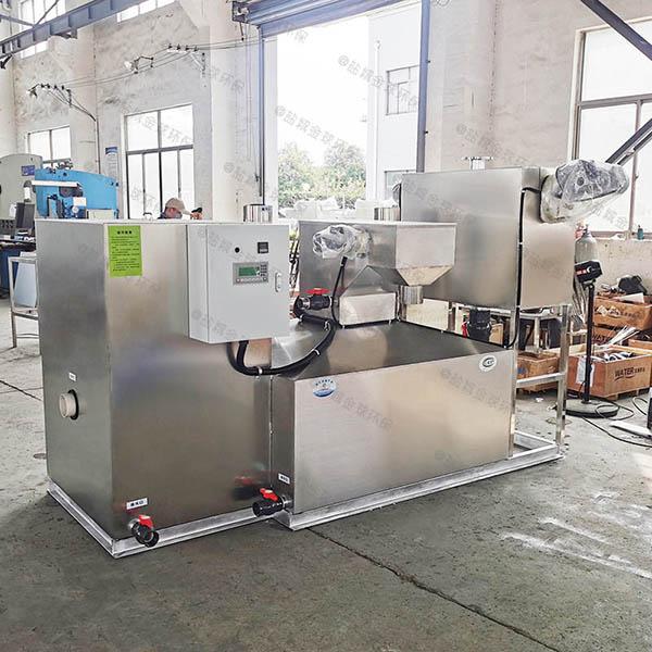 餐饮行业室内移动式一体化隔油强排设备效率
