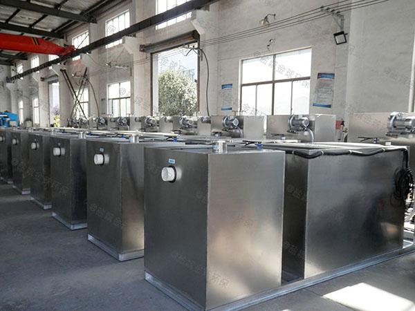 厨房用地下式全能型一体隔油提升设备效果
