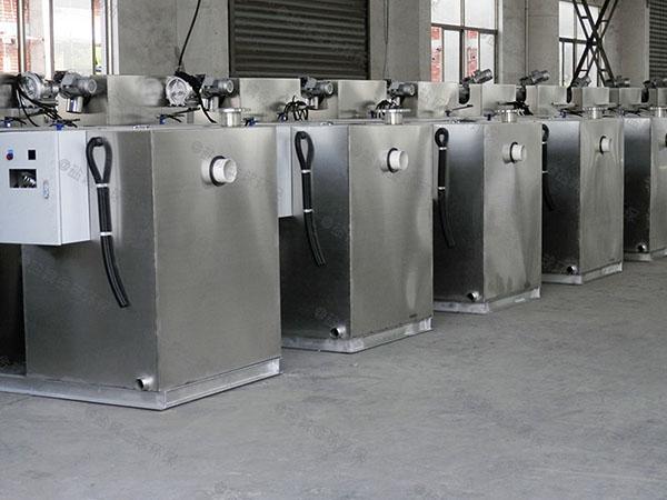 餐饮商户地下式多功能一体隔油提升设备选用表