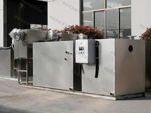 餐饮类地上式半自动一体化隔油池设备选用表