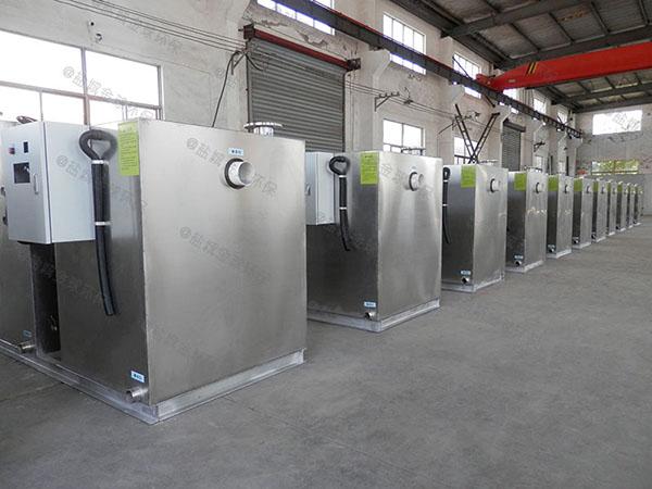餐饮专用室外全自动智能型一体化隔油池设备适用行业
