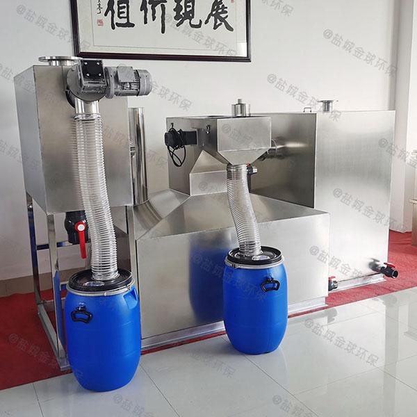 厨用埋地移动下水道油水分离器有效容积