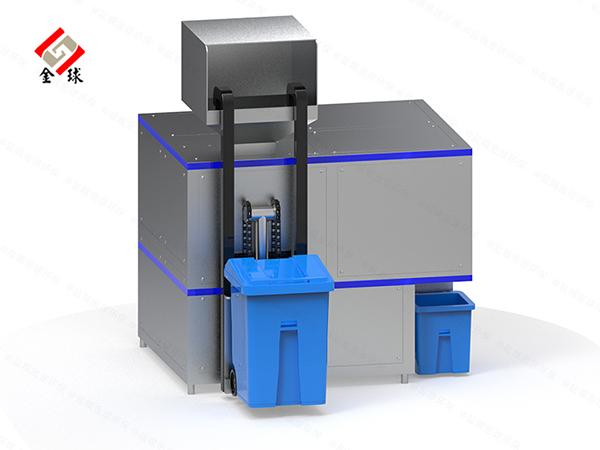 日处理10吨自动上料餐饮垃圾压缩烘干设备结构设计