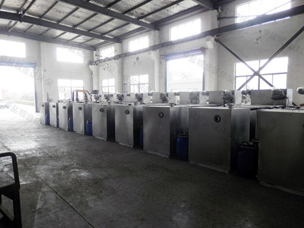 餐饮环保地下式机械一体化隔油强排设备适用行业