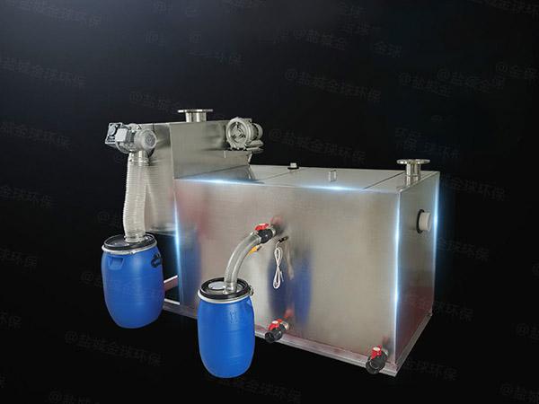 餐饮业地下室机械污水隔油器使用寿命