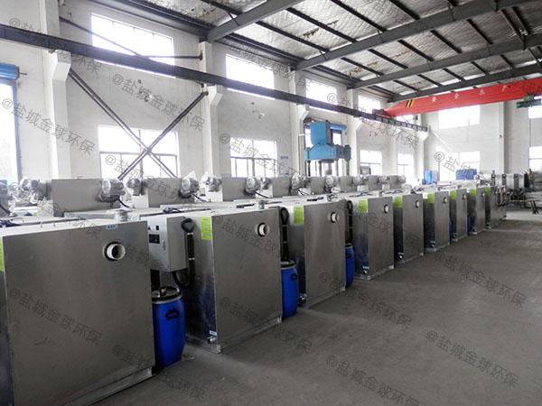 餐饮环保室内半自动一体化隔油池处理设备应用范围