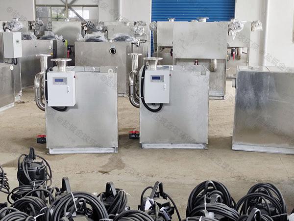 商品房地下室单泵污水隔油提升器堵了