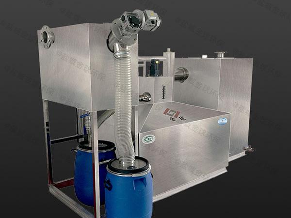 餐用地上全自动智能型一体化隔油污水提升设备用法