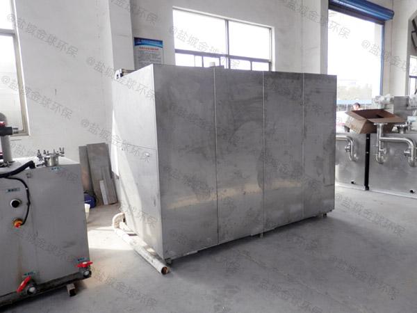 10吨智能化餐饮垃圾烘干粉碎压缩设备工作原理图