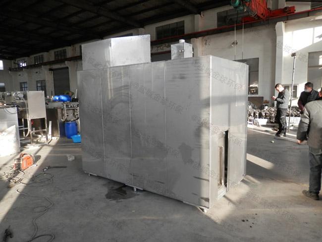 5吨机械式餐饮垃圾油水分离一体机处理工艺