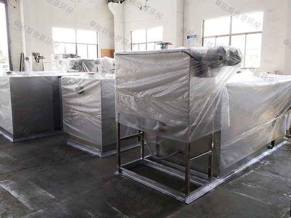 地埋式多功能饭店垃圾油水分离设备设计图
