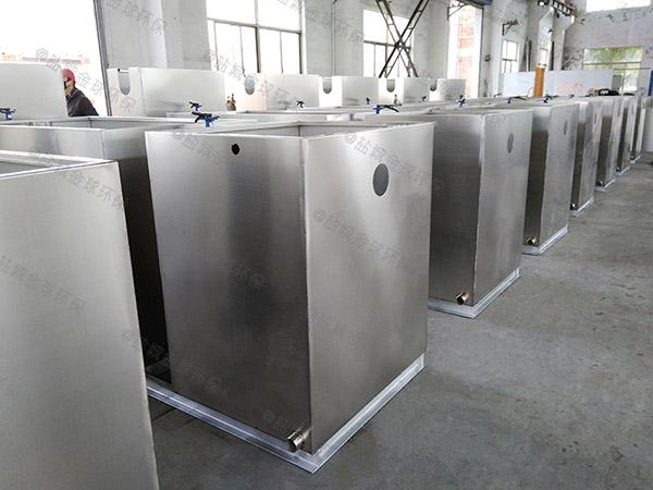 户外智能食堂油污水分离装置改造