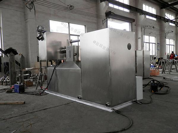 室外分体式厨房水油分离施工图