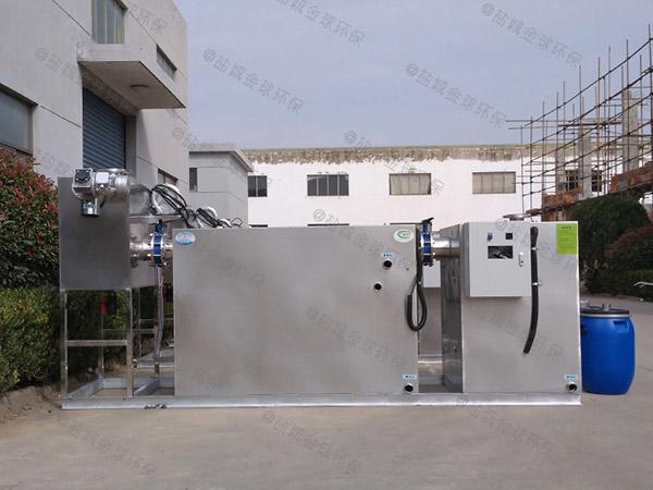 地埋整体食堂油污水分离装置规格型号及容量