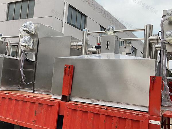 地上式自动排水食堂油水分离装置施工图